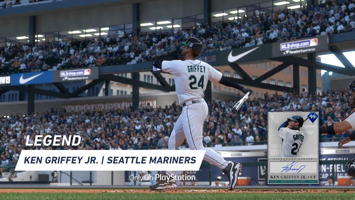 Swing like a boss  Ken Griffey Jr., Jackie Robinson, and Mike Piazza arrive in MLB The Show 19:  https:// play.st/2H7za5h    <br>http://pic.twitter.com/uvqCbNRTdL