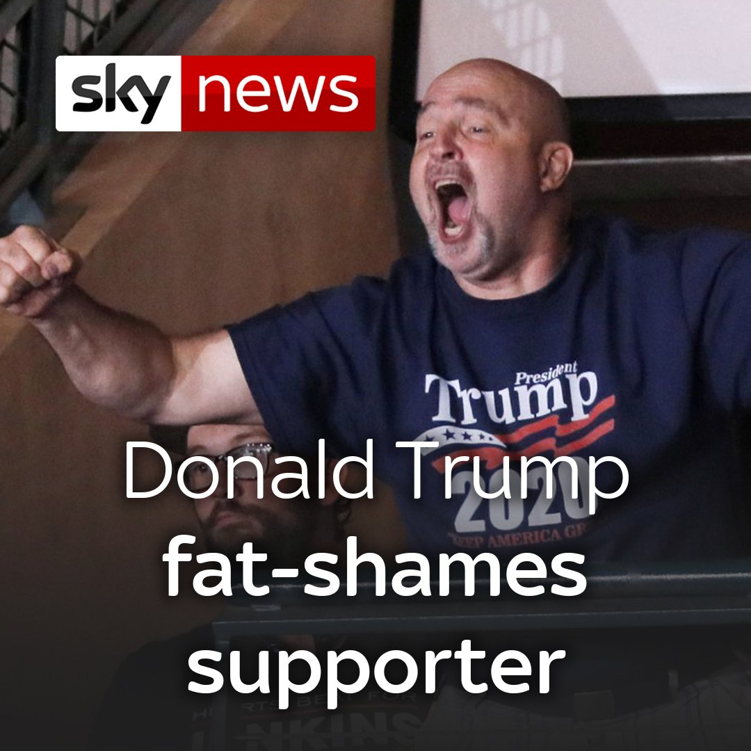 """That guy's got a serious weight problem.""  Thinking the man was a protester, this is the moment President Donald Trump fat-shamed one of his own fans during a campaign rally in New Hampshire on Thursday.  More on this story here: http://po.st/Bng8i6"