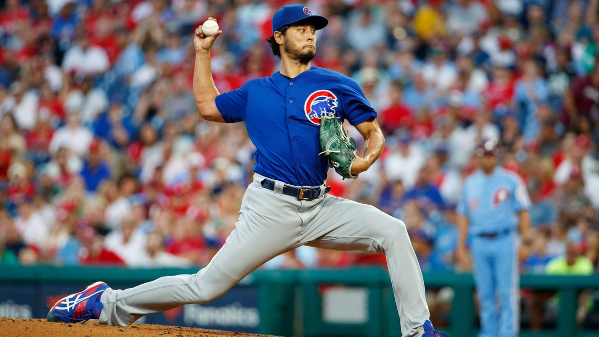 Happy 33rd Birthday to #Cubs Yu Darvish! He joins Jeff Samardzija (2017) as the only pitchers in #MLB history with 4 straight starts with 8+ strikeouts & 0 walks.