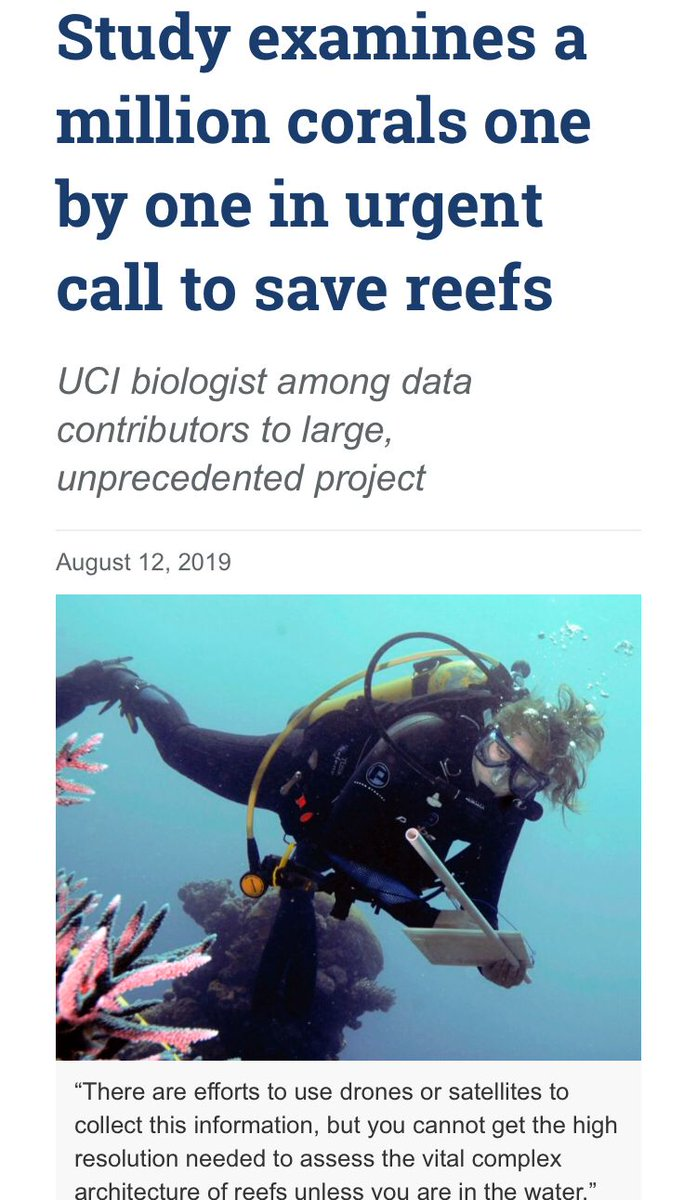 Research intended to help understand how to save the reefs encompassed over 2,500 reefs, a million individual corals across 44 countries. buff.ly/2KBg8qm