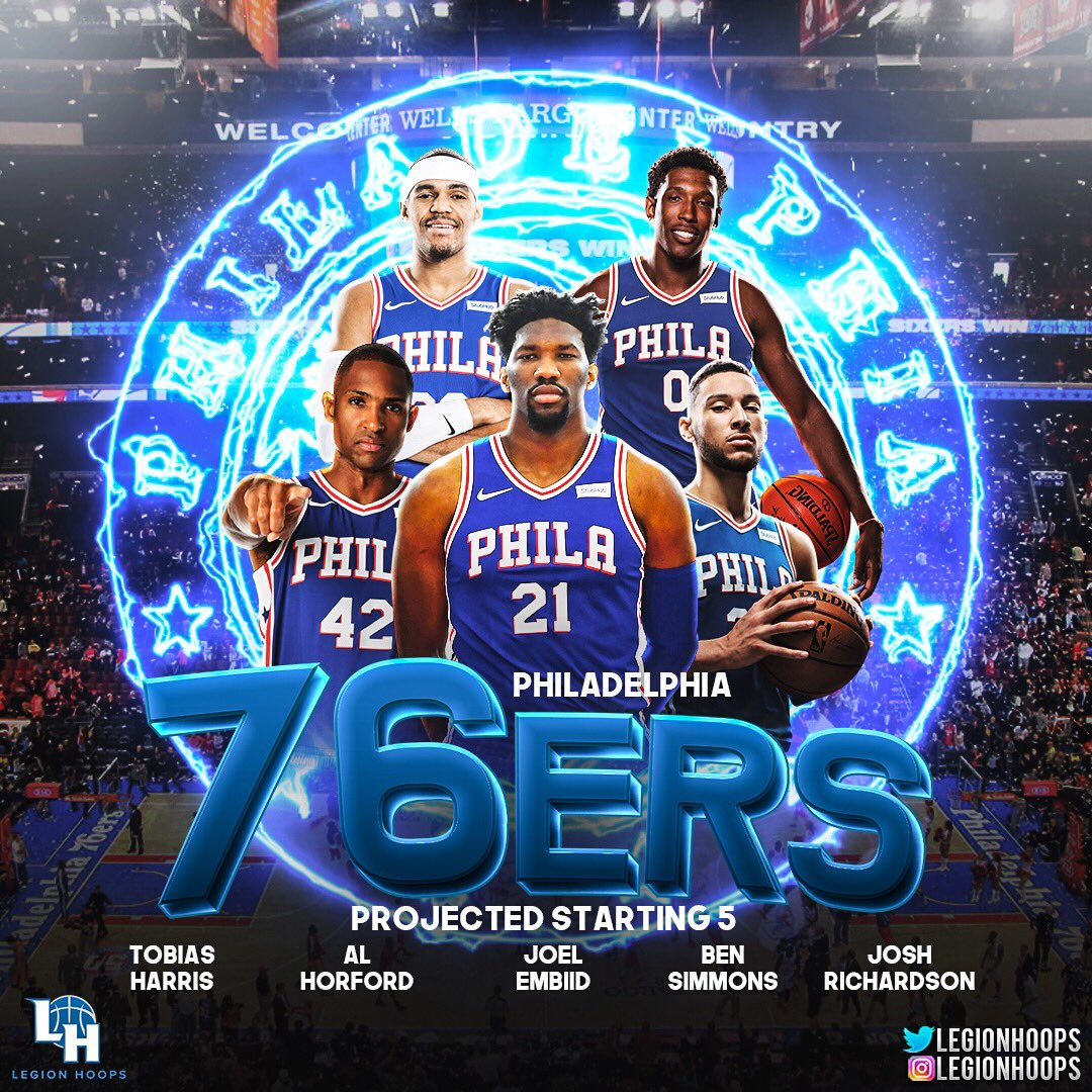 Philly's looking to make their first NBA Finals since 2001 with Allen Iverson. #LHProjectedStarters<br>http://pic.twitter.com/kff0AW8l5C