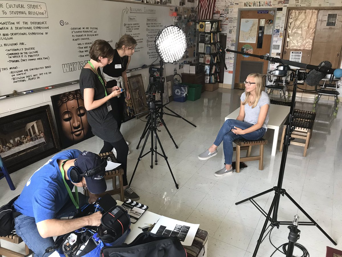 Throughout this school year, a film crew will be following World Religion students and documenting their growth as they progress through our religious and cultural literacy program. For more information:  https://www. teachingaboutreligiondoc.com     <br>http://pic.twitter.com/oXiPBhbR9i