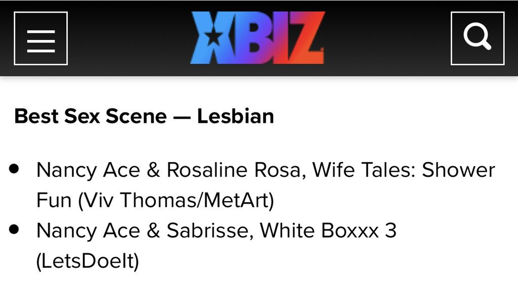 test Twitter Media - I am very happy that I was nominated again for @XBIZ it's true my favorite scenes, I remember how it was with @Sabrisse this was my first lesbian scene 😅 and now this video nominated as the best  lesbian scene 😍 I'm waiting for your voices and hope to see you on Venus ❤️ https://t.co/Jb8ZsGSVCB