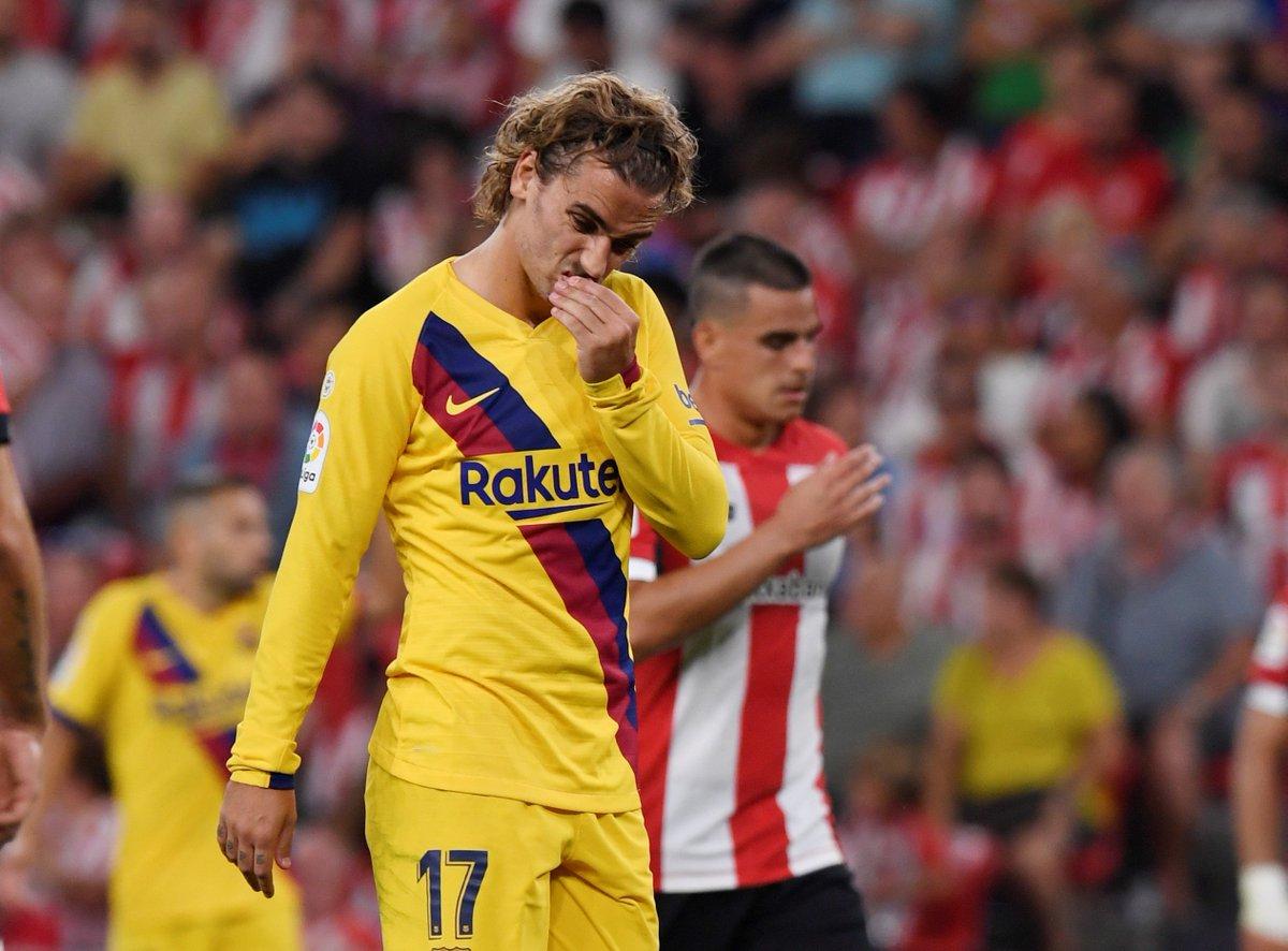 Barcelona pierde con Athletic en el inicio de la Liga Española