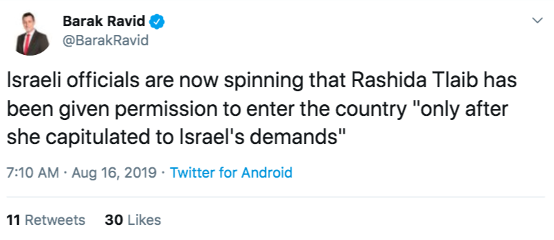 How dare Tlaib miss this opportunity to capitulate
