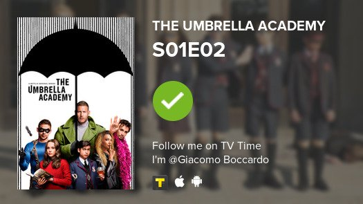 test Twitter Media - I've just watched episode S01E02 of The Umbrella Aca...! #umbrellaacademy  #tvtime https://t.co/BUJkQDVRz9 https://t.co/OqOqHR89x7