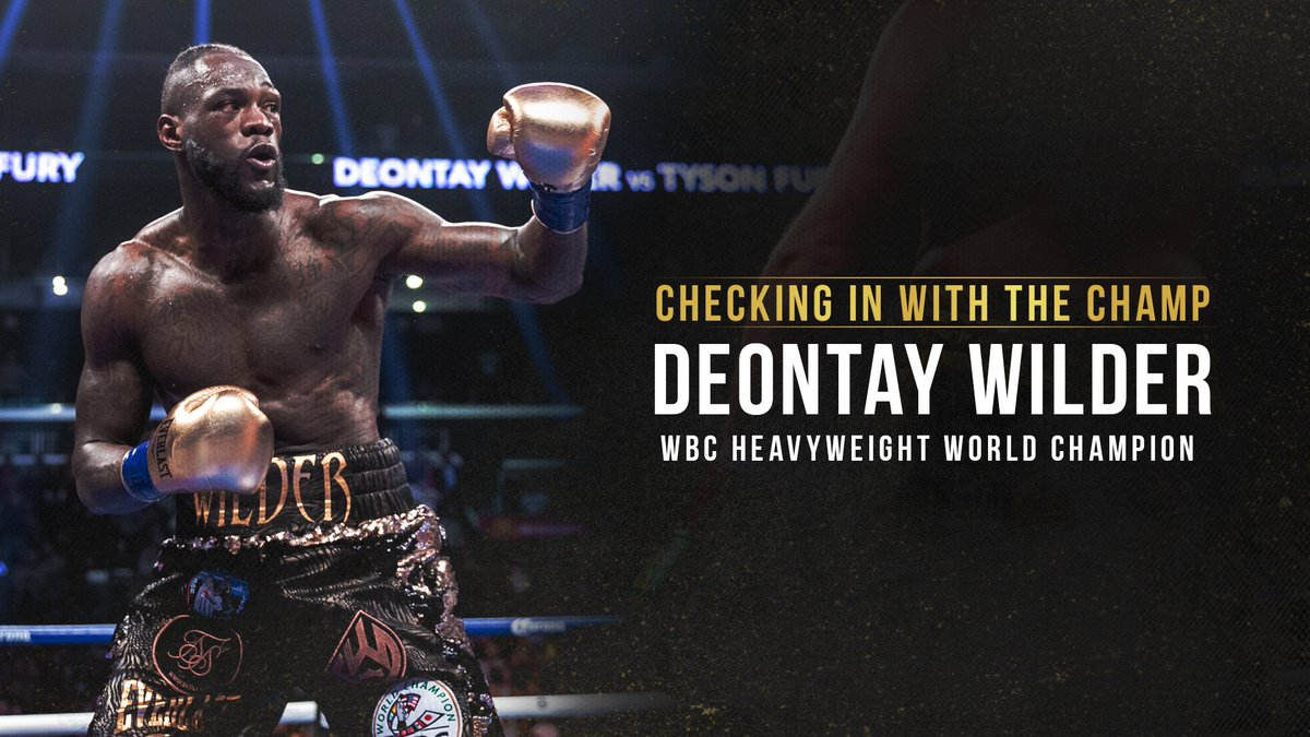 What has WBC Heavyweight Champ @bronzebomber been up to since his May victory over Dominic Breazeale? When will we see him back in the ring? What are his thoughts on some of the big upcoming heavyweight matchups? Youve got questions, Wilder has answers. #CheckingInWithTheChamp