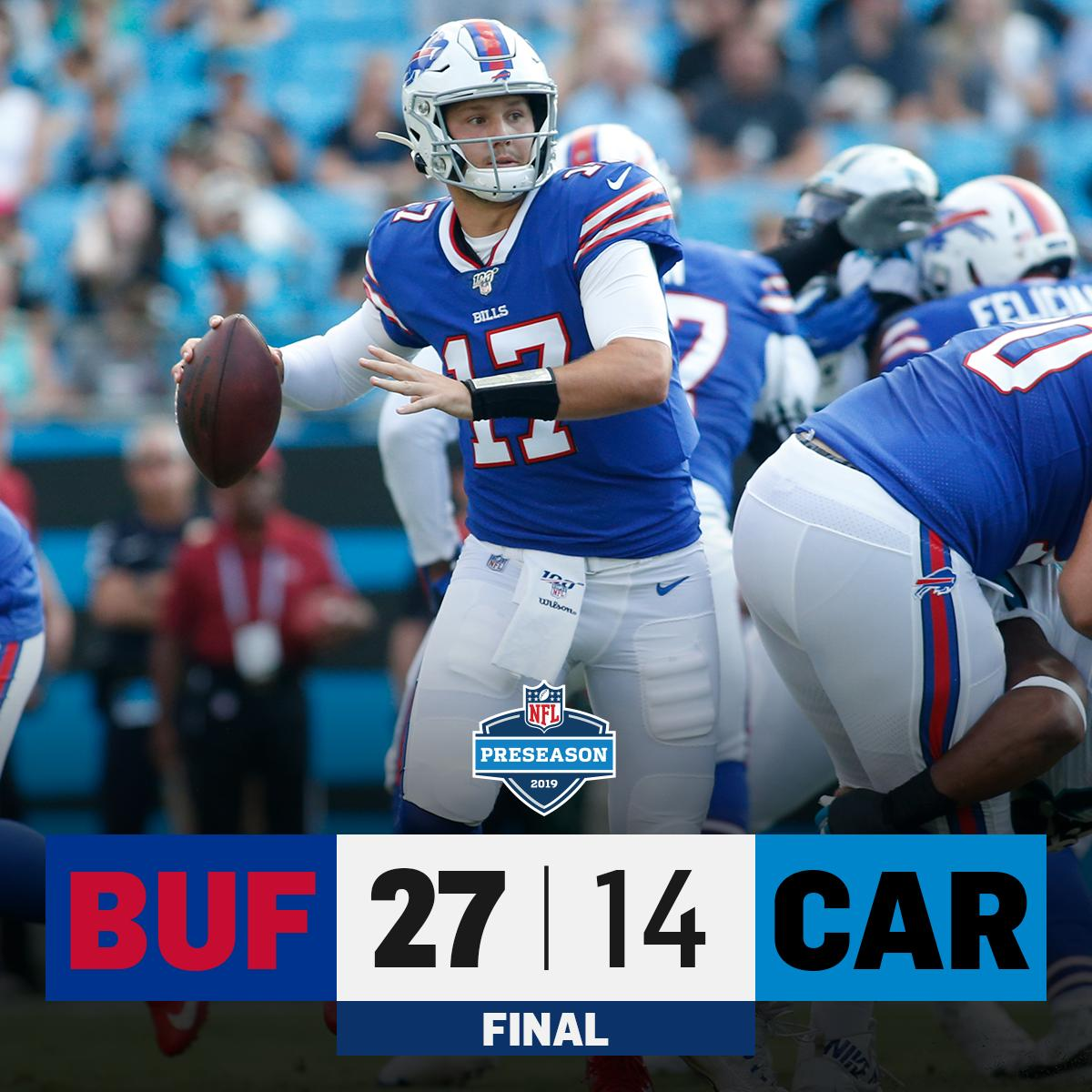FINAL: @BuffaloBills leave Carolina with a victory! #BUFvsCAR