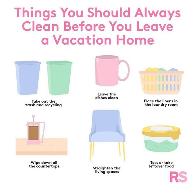 Cleaning Tips Before your Vacation #