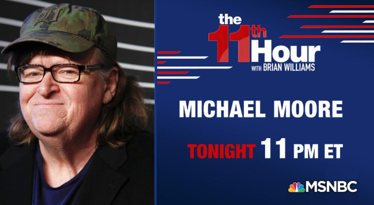 Tonight @MMFlint joins us live for a special extended interview only on @MSNBC. #11MSNBC #11thHour