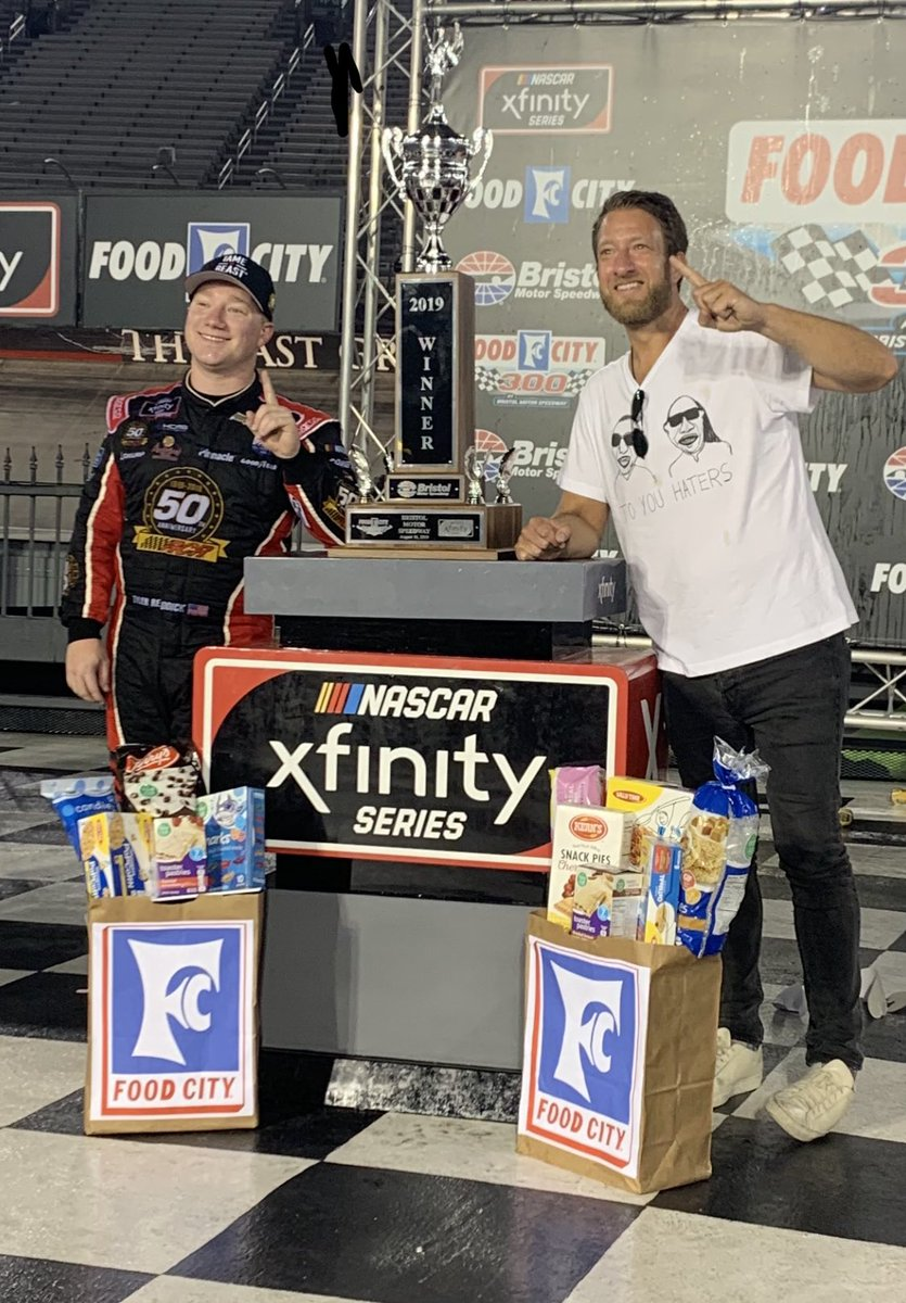 Congrats to @TylerReddick for winning #FoodCity300 just as I predicted @BMSupdates