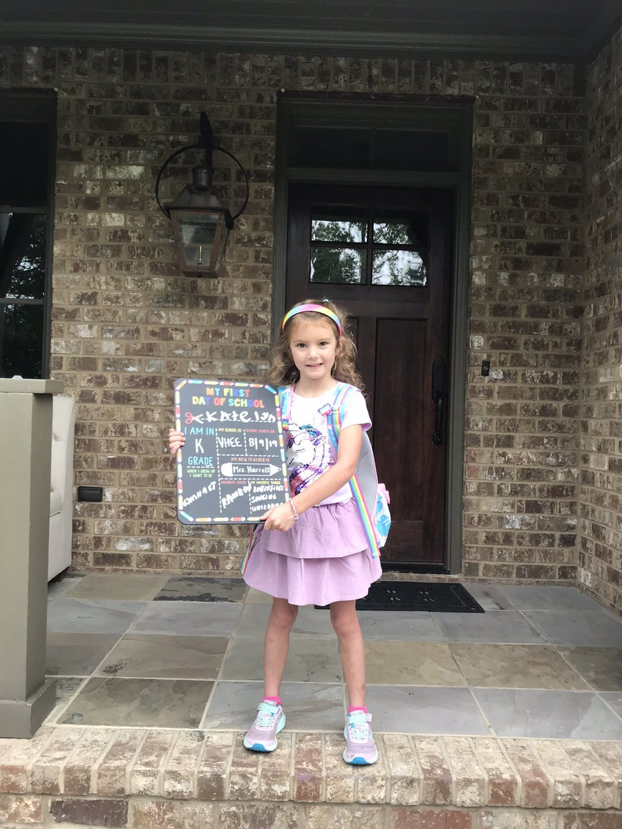 """On the first day of Kindergarten her teacher asked the kids to """"stand up if you were an Auburn fan, then Alabama fan, and lastly a #UAB fan. This ❤️ was the only one standing tall and proud for #UAB! #proudDad #GoBlazers"""