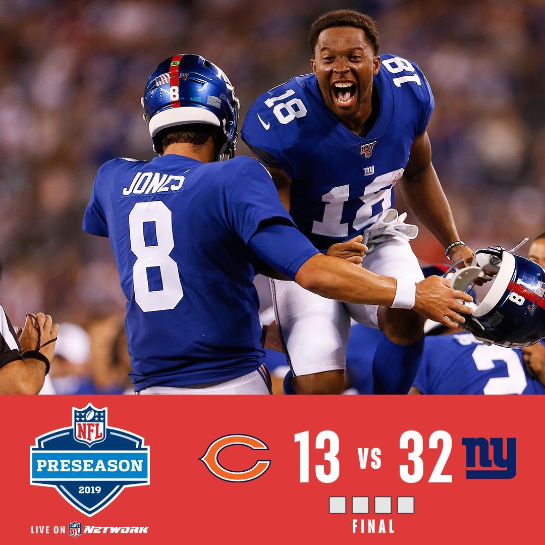 FINAL: @Giants win it! #CHIvsNYG