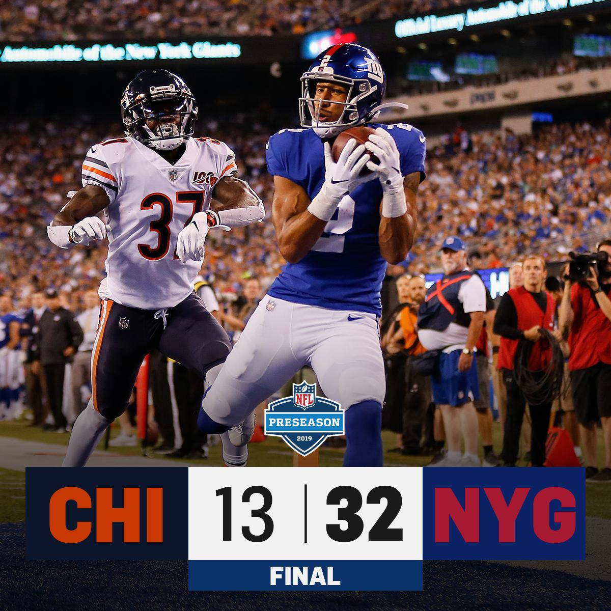 FINAL: @Giants defeat the Bears! #CHIvsNYG