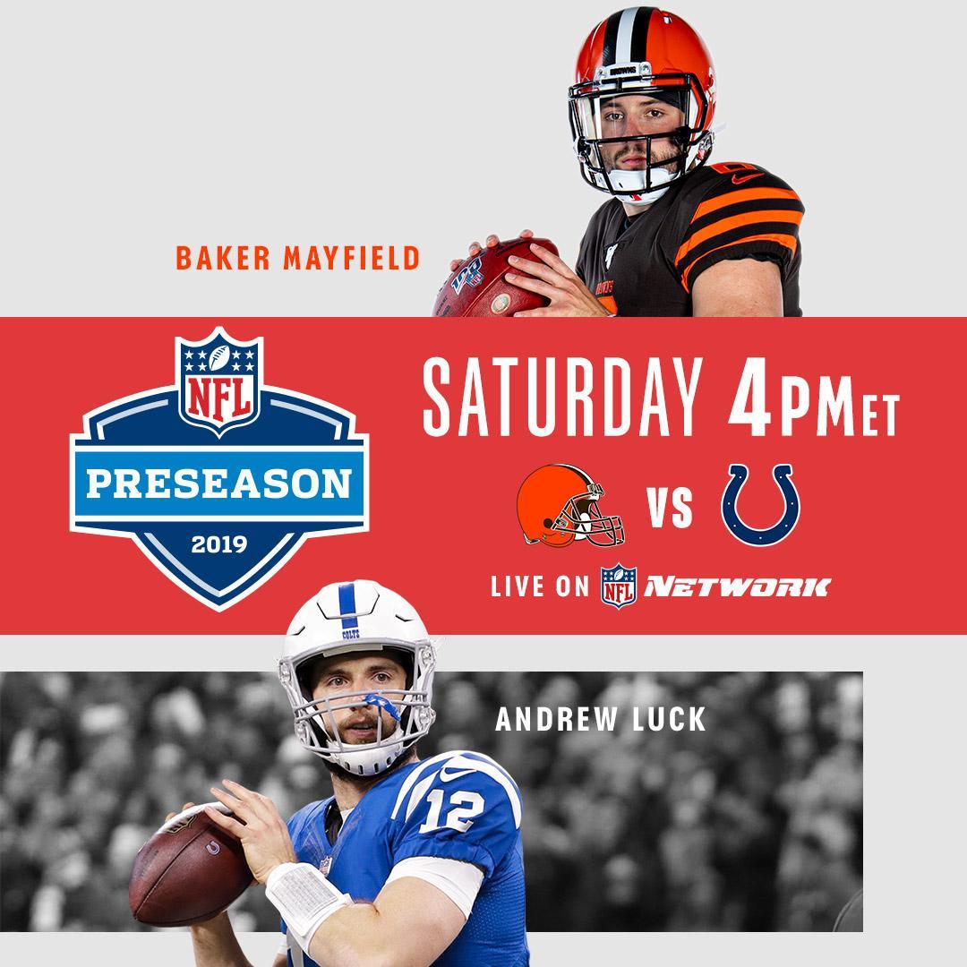 TOMORROW! @Browns vs. @Colts (4pm ET) @Chiefs vs. @steelers (7:30pm ET) @dallascowboys vs. @RamsNFL (10pm ET) 📺: Triple-header on NFL Network!