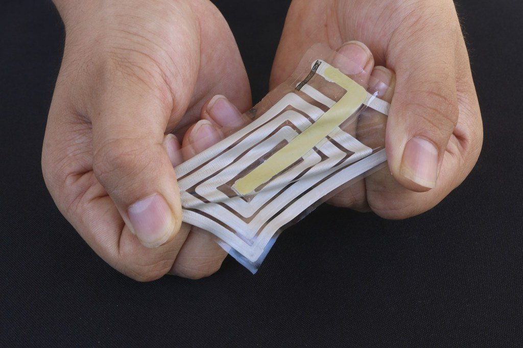 Flexible stick-on sensors could wirelessly monitor your sweat and pulse https://tcrn.ch/2H7zMrK