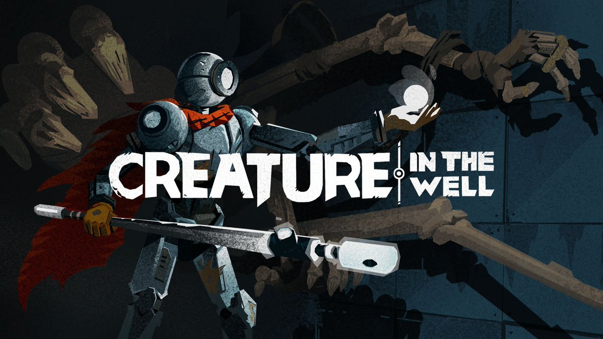Dive into the mountain depths for a pinball-inspired dose of hack-and-slash action in #CreatureintheWell, coming to #NintendoSwitch on 9/6! Pre-purchase on Nintendo #eShop today! #IndieWorld 🤖 bit.ly/2KX339C