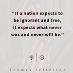Image for the Tweet beginning: Thomas Jefferson, in a letter