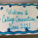 Image for the Tweet beginning: Welcome to the College Connection