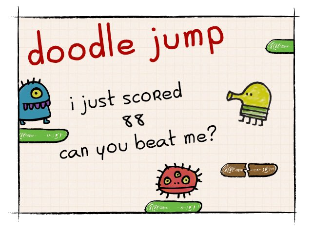I just scored 88 on doodle jump! for ios: https://t.co/ZjgOnlzzvX for android: https://t.co/PI3DzDaUXM https://t.co/TIeuY7kOkr