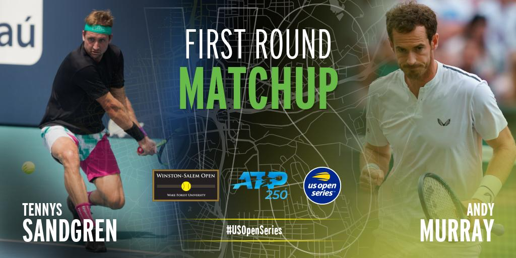 It's the answer to the question everyone's been asking. @andy_murray v. @TennysSandgren in R, day and time TBD.   Winner to face @denis.shapovalov in round 2.    Full draw details to come. -- #wsopen #builtforthesouth #andymurray <br>http://pic.twitter.com/0WswEPtbvy