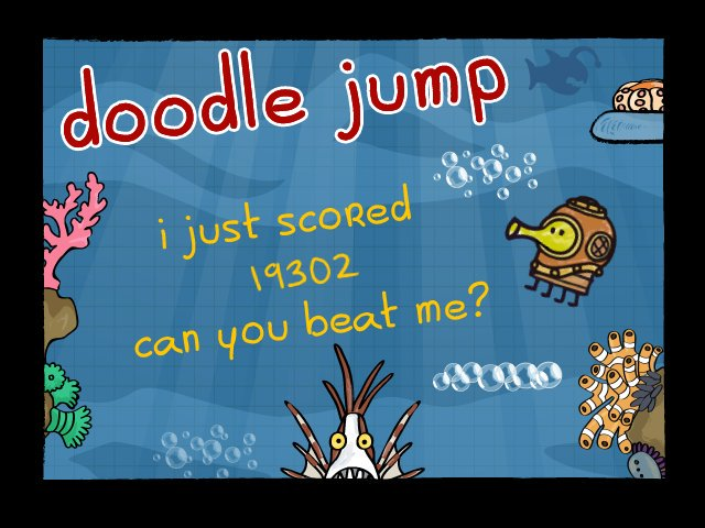 I just scored 19,302 on doodle jump! for android: https://t.co/cVHYr5h5yp for ios: https://t.co/iUDpHPuEZN for wp8+: https://t.co/rEzbqwCBEr https://t.co/Ye7HmoxS9l