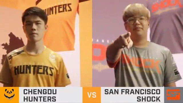 Ready for round 2? The predictably unpredictable @ChengduHunters are matching up against one of our #OWL2019 juggernauts @SFShock! Who wins today? 🔴 twitch.tv/overwatchleague