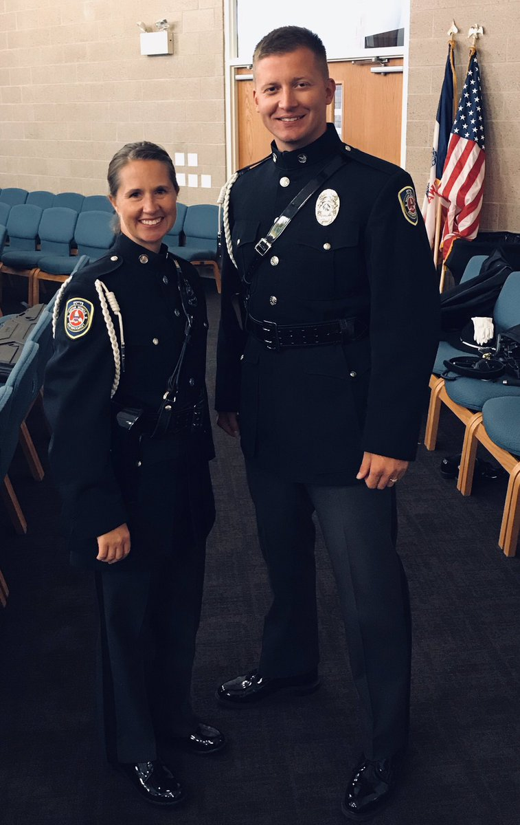 #FridayVibes   Myself & Motor Carrier Inv. T. Kinney presented colors at Iowa LE Academy. It's a truly a honor to be part of @iowadot MVE #HonorGuard team.   Good luck to the NEW LE CLASS   Sgt. Wittrock & Sgt. Rader also present (not pictured)  #OurFamilyProtectingYours<br>http://pic.twitter.com/rYIAHD3Hrv
