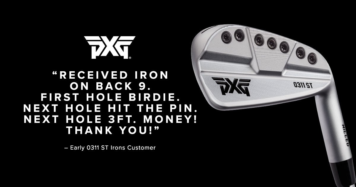 Pure sexy that performs! Our new, 100% milled PXG 0311 ST Irons look amazing and deliver the outstanding control and workability that accomplished golfers demand. Tap  http:// bit.ly/PXGSTIronsPerf orm   …  to reserve your set today. #PXG #PXGTroops <br>http://pic.twitter.com/j7gWfsPDAH