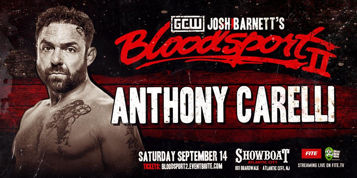 From Judo to Battlearts and MMA, this man has all the credentials for Bloodsport.Anthony Carelli is coming to score the ippon Sept 14th.Live on @FiteTV@GCWrestling_#Bloodsport@BattleArtsMMA
