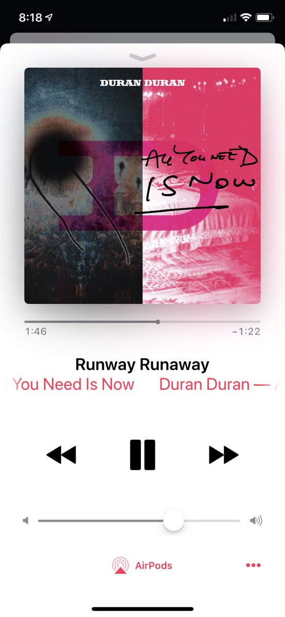 Emotional tweet time! So, my friend (the one I am in love with, and the one I'm bringing to Vegas) has left for college and a new job. As a result, I hardly, I'd ever get to see her. I am beyond sad, but this lovely @duranduran gem is making it easy to cope with. <br>http://pic.twitter.com/hWWKheAkg4