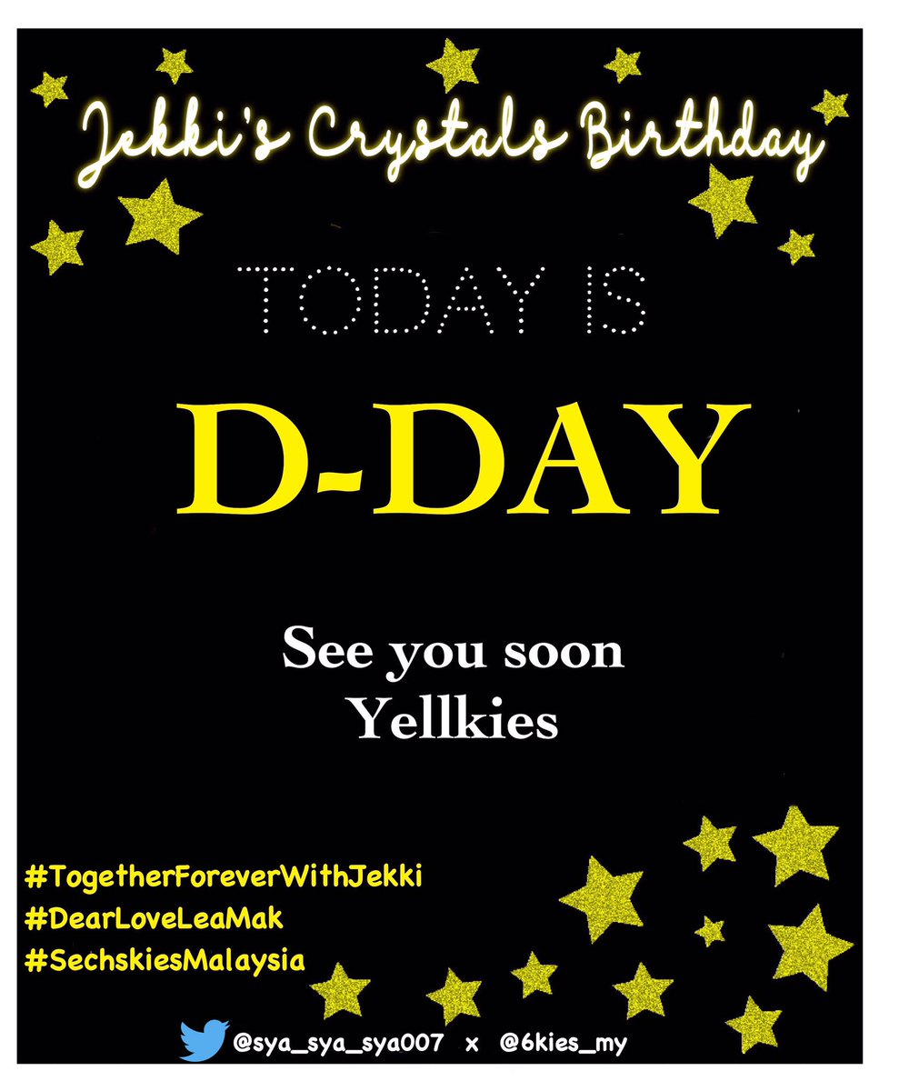 Today is the day!!! #Yellkies come join us to celebrate our Jekki's crystals birthday.Date: 17th Aug 2019 (Sat)Time: 12pm-6pmVenue: Quartet Cafe, NU Sentral Any enquiry please DM us 💛❤️💛#TogetherForeverWithJekki#DearLoveLeaMak#SechskiesMalaysia
