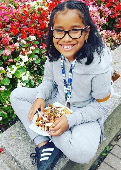 Missing Girl: 10 y/o Jiselle Banchon-Loayza. LS at 4pm, Dee Ave and Humber Rec Trail. She is 52, w long dark hair braided in a ponytail. Wearing blk/ purple framed glasses, white t-shirt black leggings, purple backpack We are concerned. If seen pls call 4168081200 #GO1559133^adc