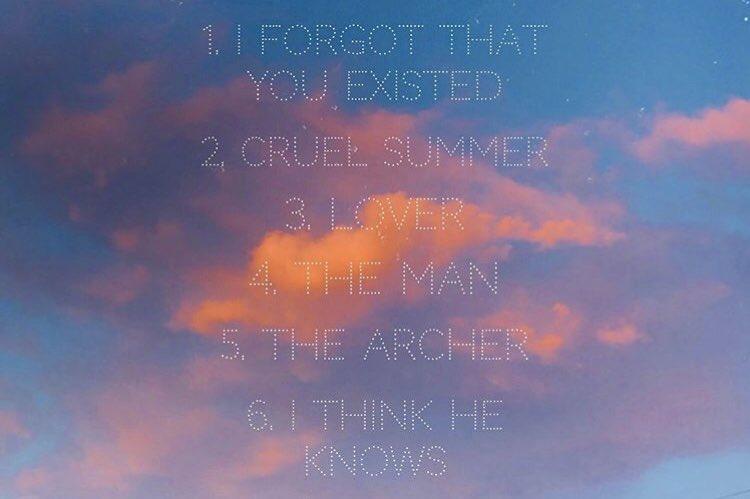 Taylor Swiftが8/23にリリースする新アルバム「Lover」のトラックリストを公開しました💓✨YNTCDのMVにも出てきたCruel Summerや、ME!のMVに出てきたDixie Chicksとのコラボ曲もありますね😍✨リリースが本当に楽しみ!!!