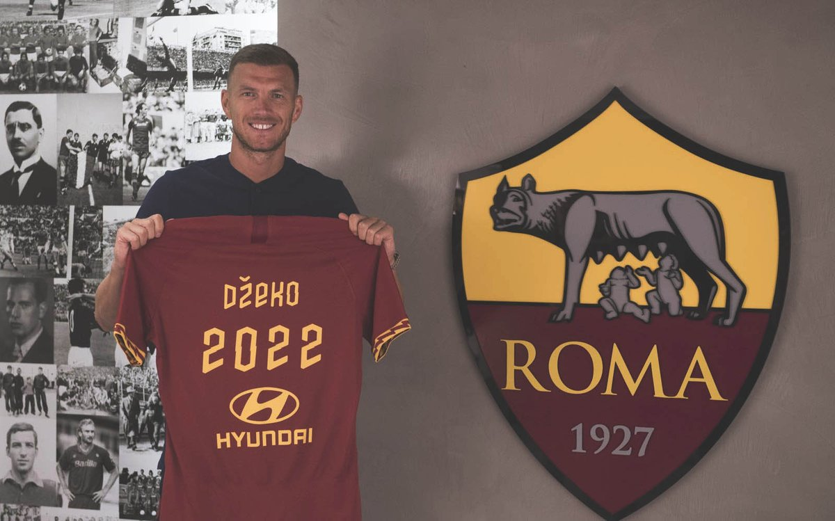 OFFICIAL: Edin Džeko has signed a new three-year contract with AS Roma.