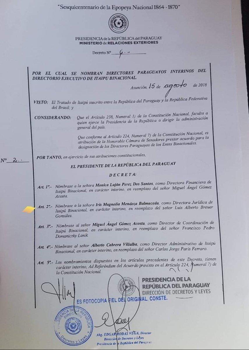 DESPIERTEN YA! La esposa del senador Beto Ovelar; Magnolia Mendoza de Ovelar percibió en un año de relajado trabajo como Directora Jurídica de Itaipú la suma de G. 1.272.000,000😳. Aguante los comunes! 🇵🇾🍊