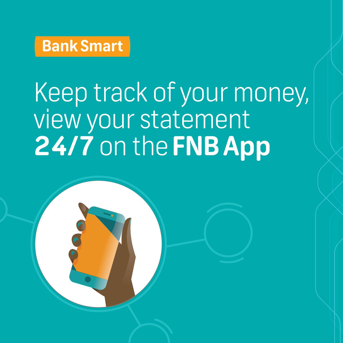 Download the FNB Banking App and #BankSmart  You can now