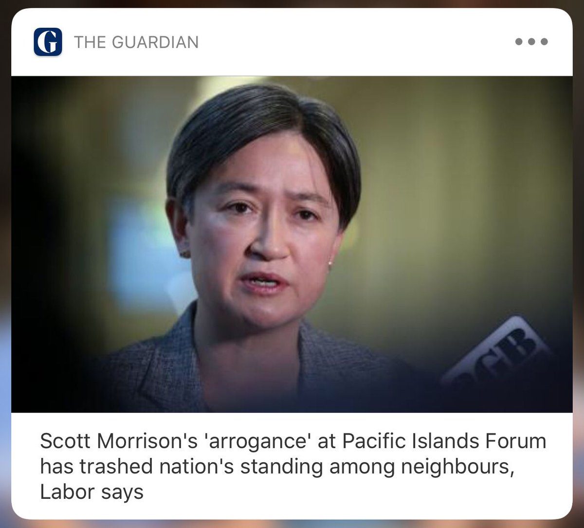 Scott Morrison has alienated our friends and trashed Australias influence in the pacific region with his arrogance on climate, Labor says buff.ly/2KBMBN6