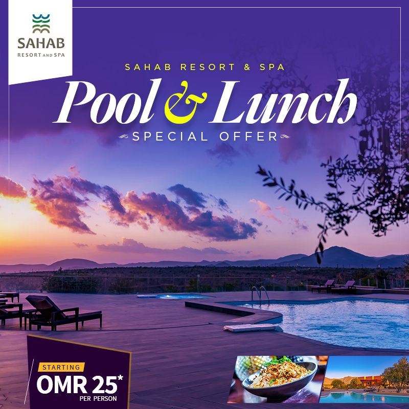 Pool and Lunch offer is here!   To know more, visit https://t.co/BfZFJJekQE or call +968 92833051 or +968 25429388.  #SahabResort #JabalAlAkhdar #PoolTime #Naturesview #bestplacetorelax https://t.co/JhSIKra0oH