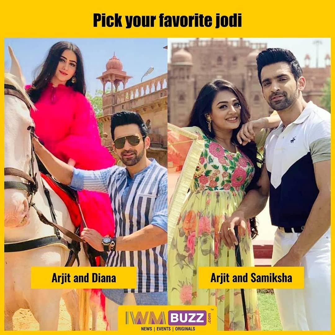 Pick your favorite jodi A. Arjit & Diana B. Arjit & Samiksha . Follow @iwmbuzz for more updates. . #pickone #favorite #actress #DianaKhan #SameekshaJaiswal #actor #ArjitTaneja #celebrity #celebrities #telly #indiantelevision #tvshow #BahuBegum #iwmbuzz #iwmbuzzhindi @ColorsTV https://t.co/9Jd82WiBsl