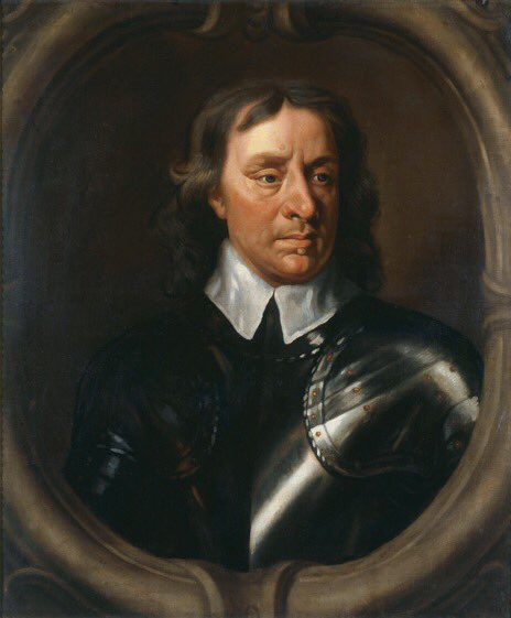 """#OnThisDay 17 August 1658, after a bout of ill health exacerbated by the shock of his daughter Elizabeth's death, Oliver Cromwell's health improved enough to go riding in Hampton Court Park where he met George Fox, who said that he looked """"like a dead man"""". #17thcentury #OTD<br>http://pic.twitter.com/sfxtsPItPt"""