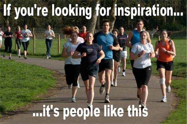 Don't look at sports stars & celebs for inspiration, take it from the millions of ordinary, run-of-the-mill folk who set off #running every day. If they can do it, then so can you.#parkrun #loveparkrun #SaturdayMotivation #FitnessMotivation #marathon #getinspired #BeInspired