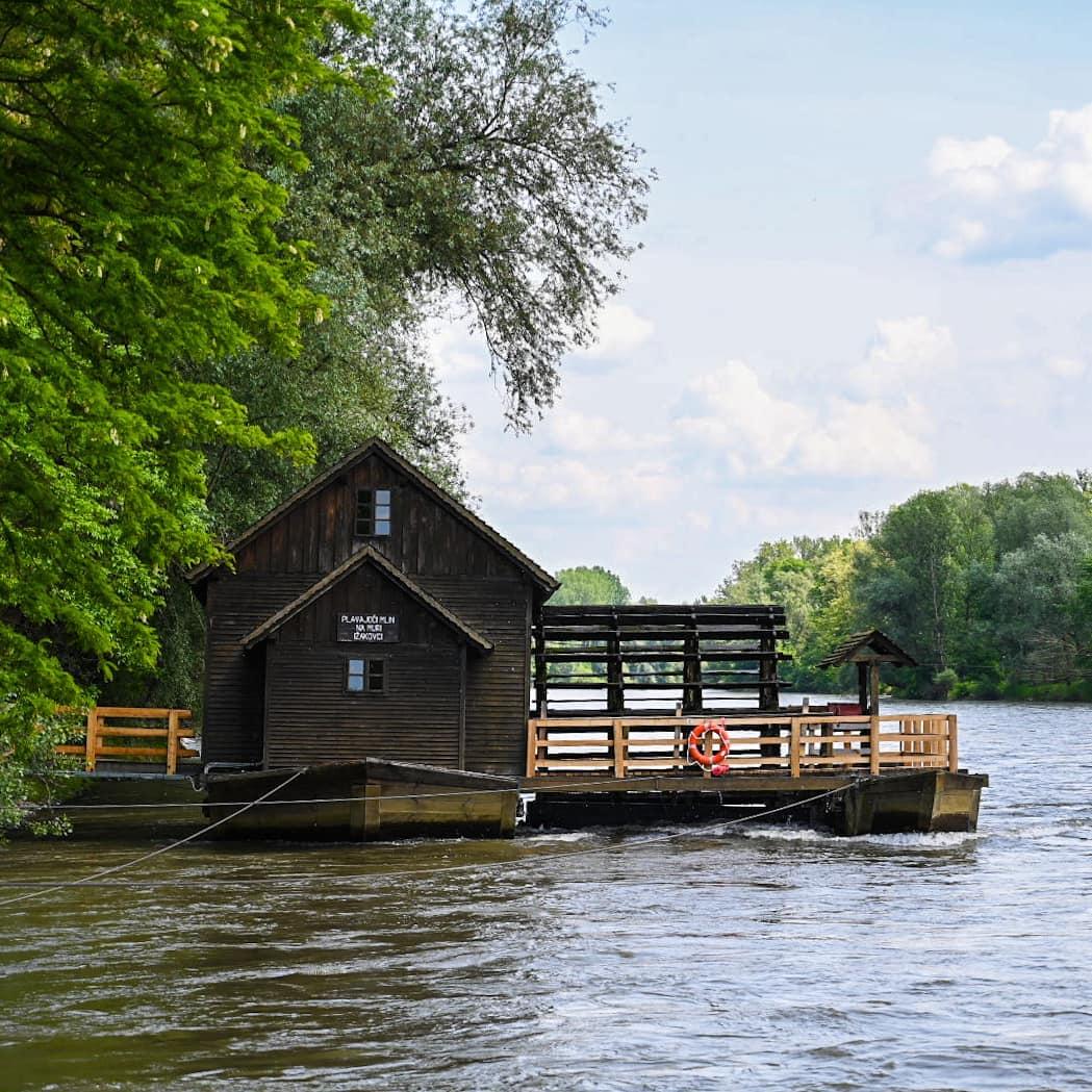 Who's planning a trip to #IfeelsLOVEnia 🙋♀️ Don't miss #Pomurje region off your list! 📝🤩〰️ The Floating Mill on the river Mura  〰️ Murska Sobota Castle〰️@VinariumLendava📸 via @instagram --> tadejkreft, jesosky gremo_mi_kar_po_svoje