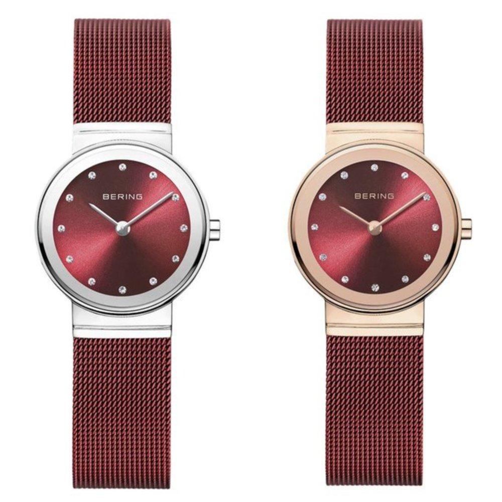 """ベーリング、""""上品レッド""""の新作レディース腕時計 - ミニマル&華奢デザインの6型 -"""
