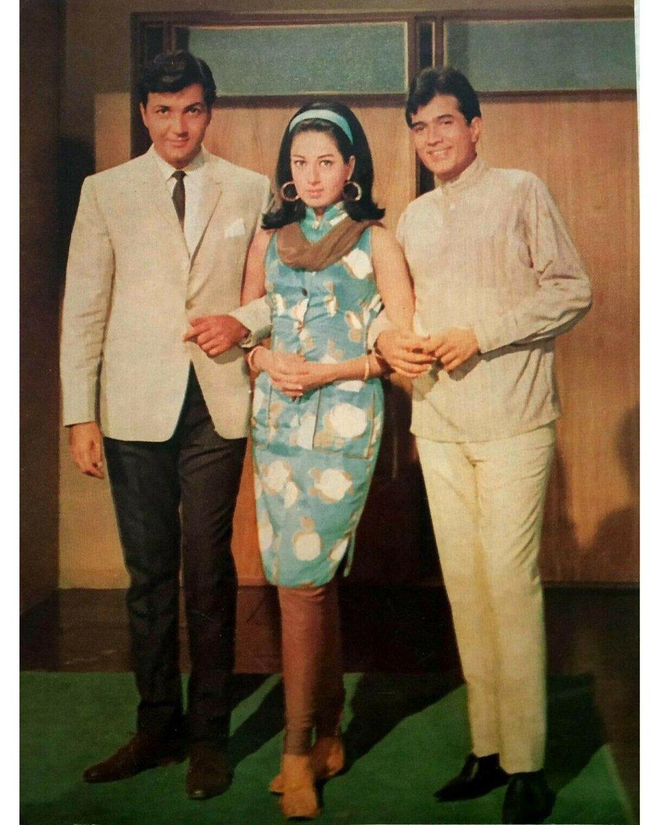 Rajesh Khanna, Babita and Prem Chopra during the filming of Doli (1969) #RajeshKhanna #Superstar #Babita #PremChopra @mrsfunnybones<br>http://pic.twitter.com/CKG5i9lWuv