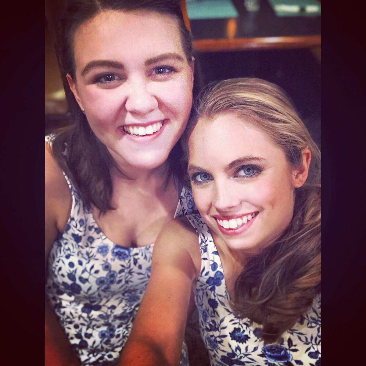 """""""Emily"""" and Emily post show twinning! #OurTown #ActorLife  <br>http://pic.twitter.com/kw9LLb6FpV"""