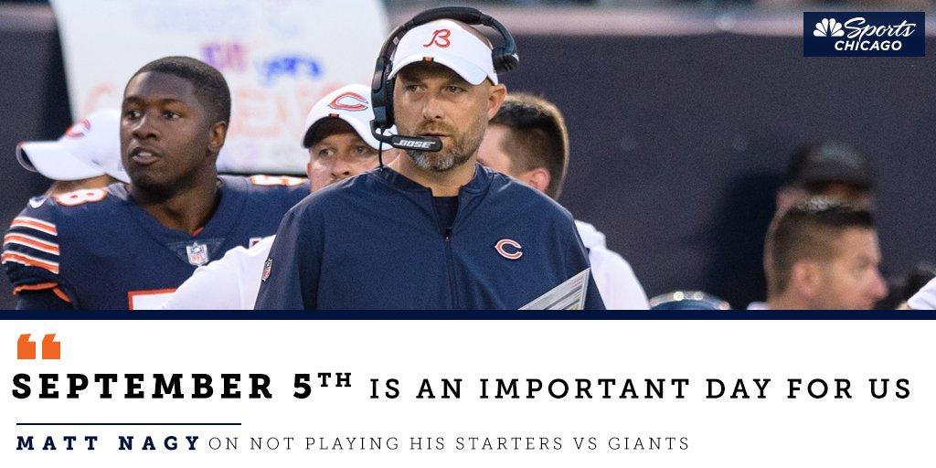 Matt Nagy is NOT underestimating the importance of health heading into the #Bears season opener