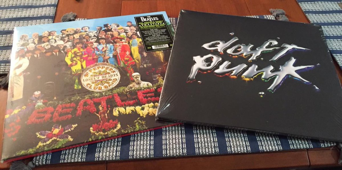 The first two vinyl records I ever bought back in 2016. Absolute classics. #TheBeatles #DaftPunk #Rock #Pop #FrenchHouse #Psychedelic #Electronic #Dance #Music #Vinyl #FBF<br>http://pic.twitter.com/rvDpWutrei