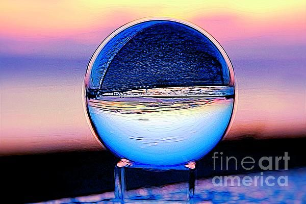 Liquefied Crystal Ball  by Karen Silvestri  https:// buff.ly/2Ze8kCQ     #crystalball #sunset #digitalart #abstractart #liquid #FridayFun #FridayVibes <br>http://pic.twitter.com/WmhH6eEp8C