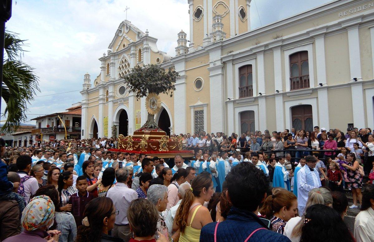 Procesión por los 308 años de aparición de la Virgen de Torcoroma ...